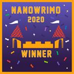 NaNoWriMo 2020 Winner Badge